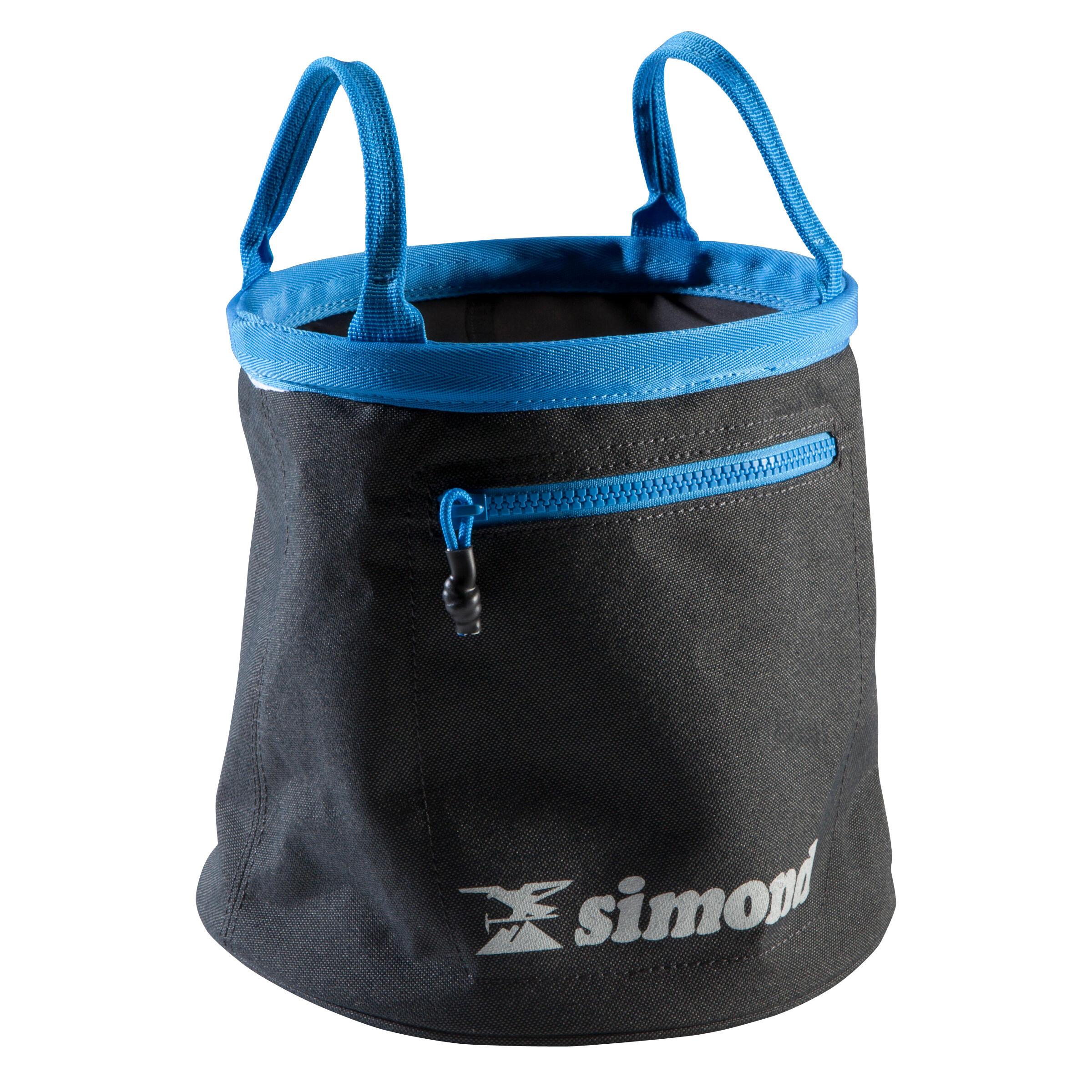 Grand sac à craie de bloc permettant de limiter la magnésie volatile.