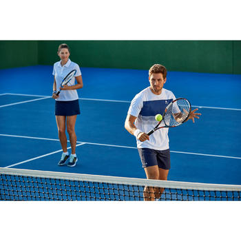 T-SHIRT TENNIS HOMME SOFT 100 BLANC