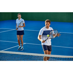 Tennisshirt heren soft 100 wit