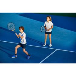 兒童款網球Polo衫100-白色