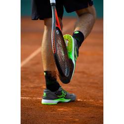 Tennisschuhe TS990 Sandplatz Herren schwarz/gelb