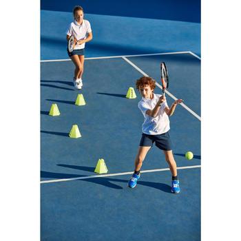 Poloshirt Essentiel 100 Tennispolo Kinder weiß