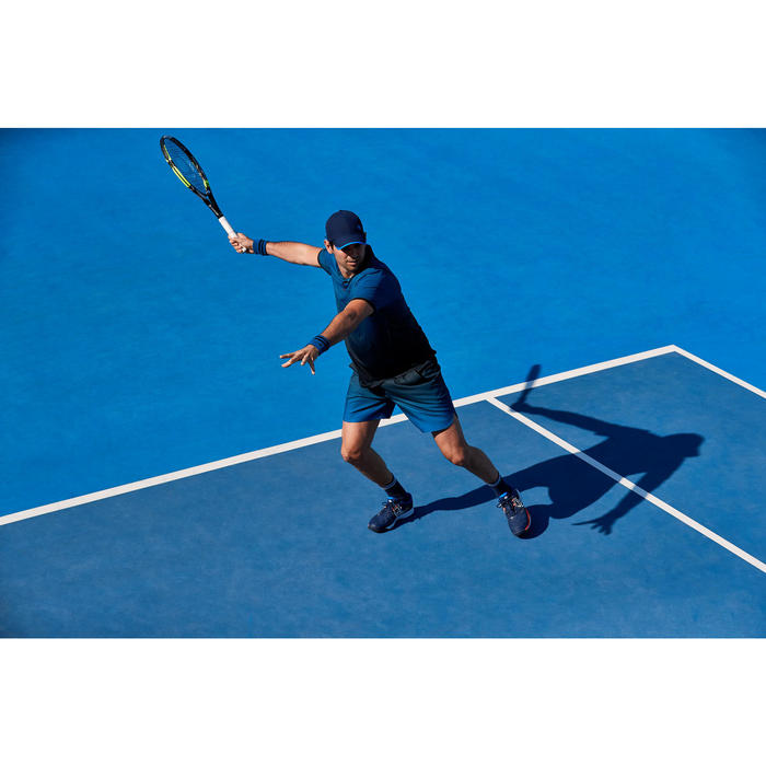 Tennisshort voor heren Dry 500 Court blauw zwart