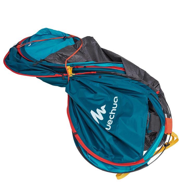 quechua tente de camping 2 seconds 3 personnes verte decathlon. Black Bedroom Furniture Sets. Home Design Ideas