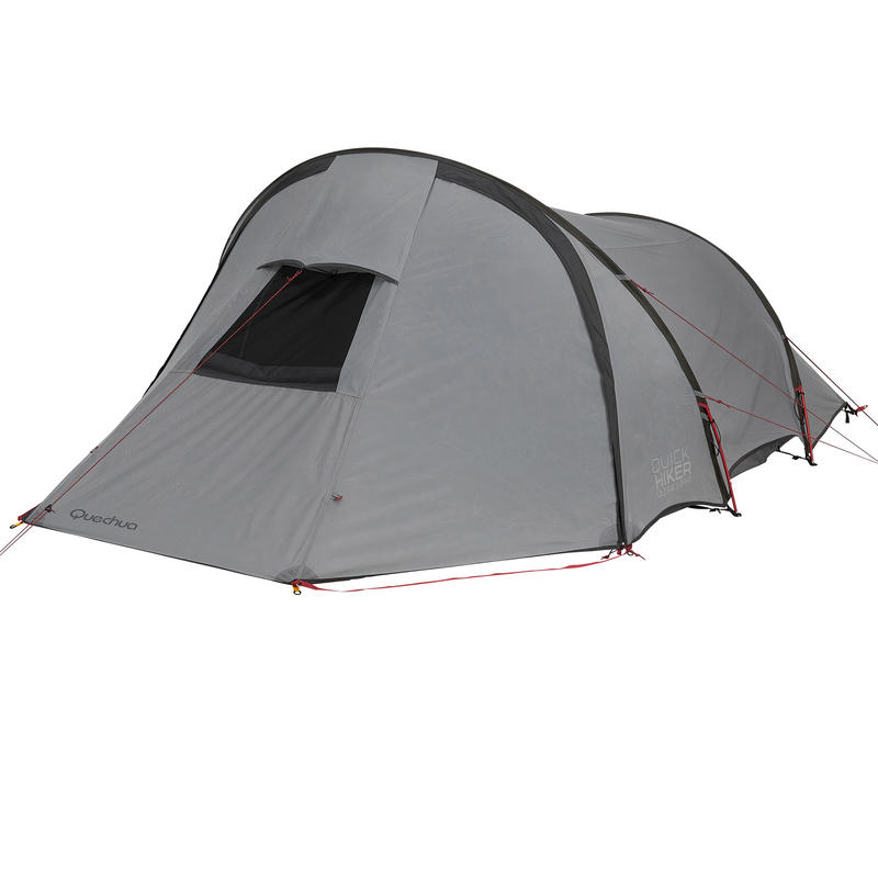 Lều cắm trại ngoài trời/ dã ngoại trekking Quickhiker cho 3 người - Xám nhạt