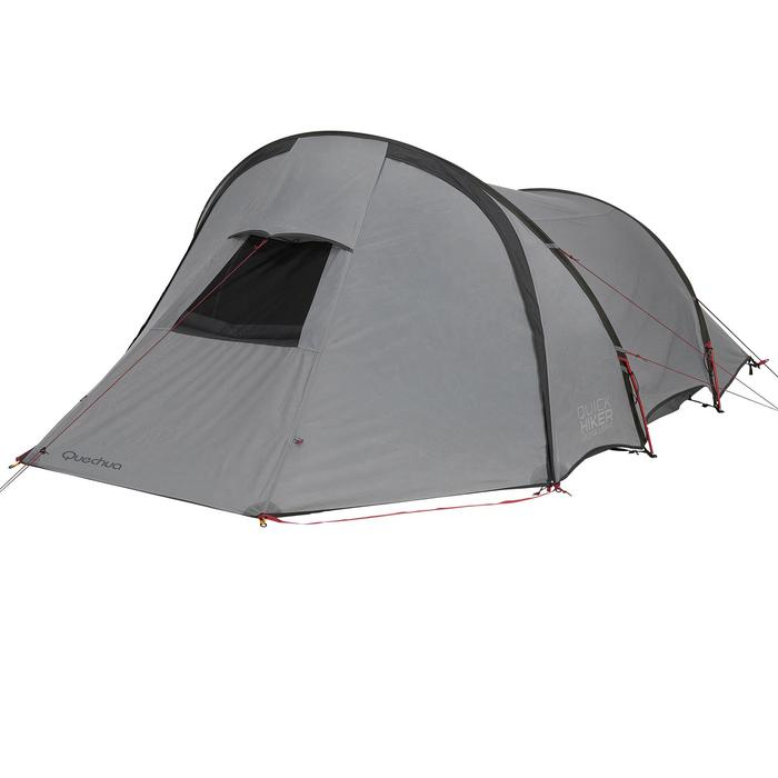 Tente de trek Quickhiker Ultralight 3 personnes gris clair - 1259535