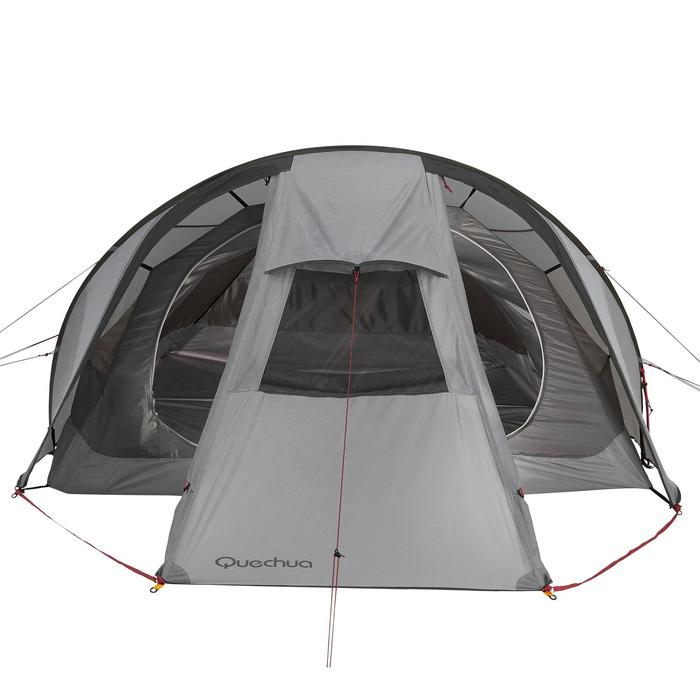 Tienda de campaña de trekking Quickhiker Ultralight 3 personas gris claro