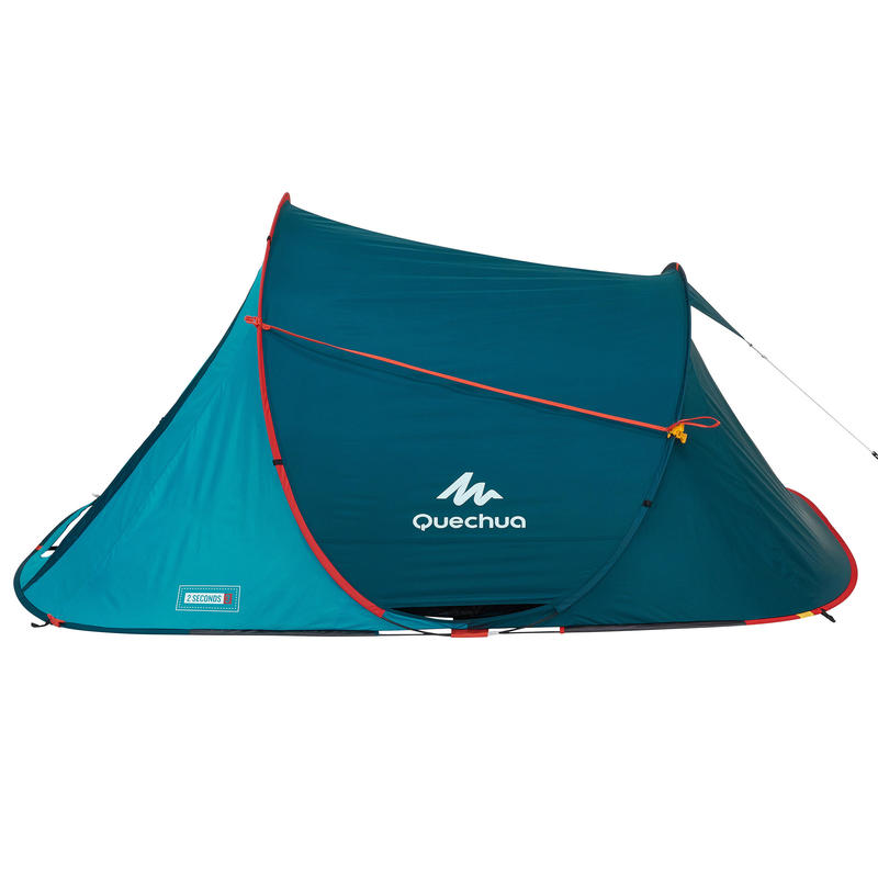 2 SECONDS camping tent 3 person - blue