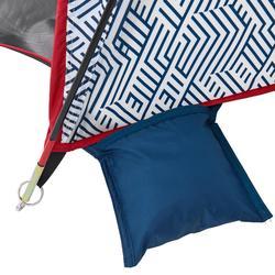 Tweepersoonsschuiltent met tentbogen voor wandelaars Arpenaz Compact Fresh
