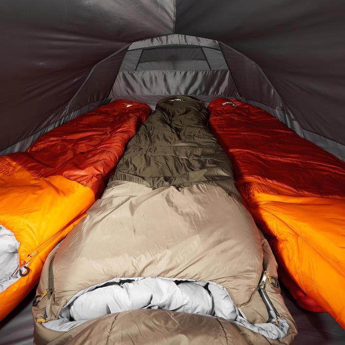 Tienda Campaña y Vivac de Montaña y Trekking Quickhiker Ultralight 3p Gris Claro