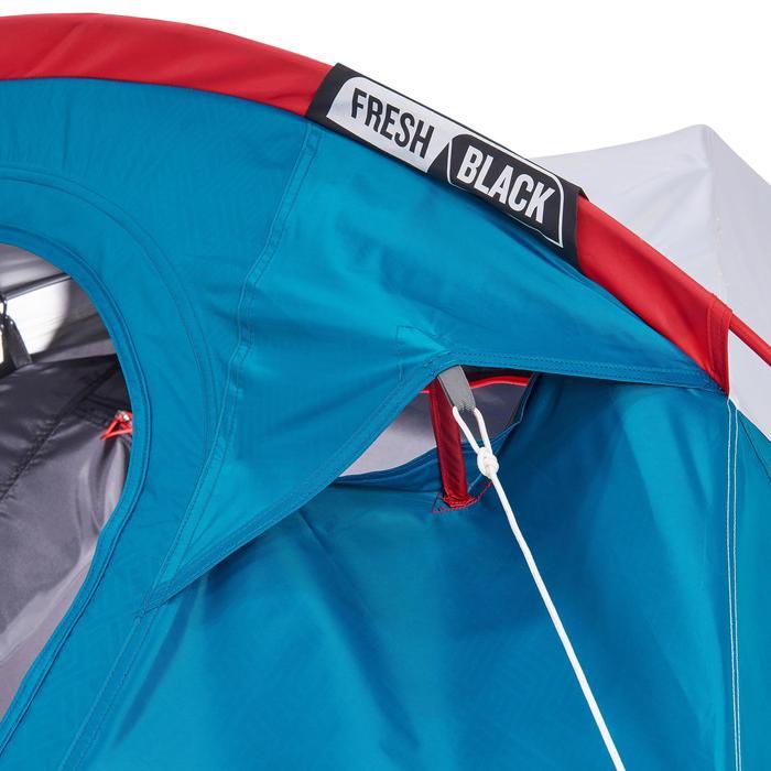 Kampeertent Arpenaz 2 XL Fresh&Black   2 personen blauw en wit