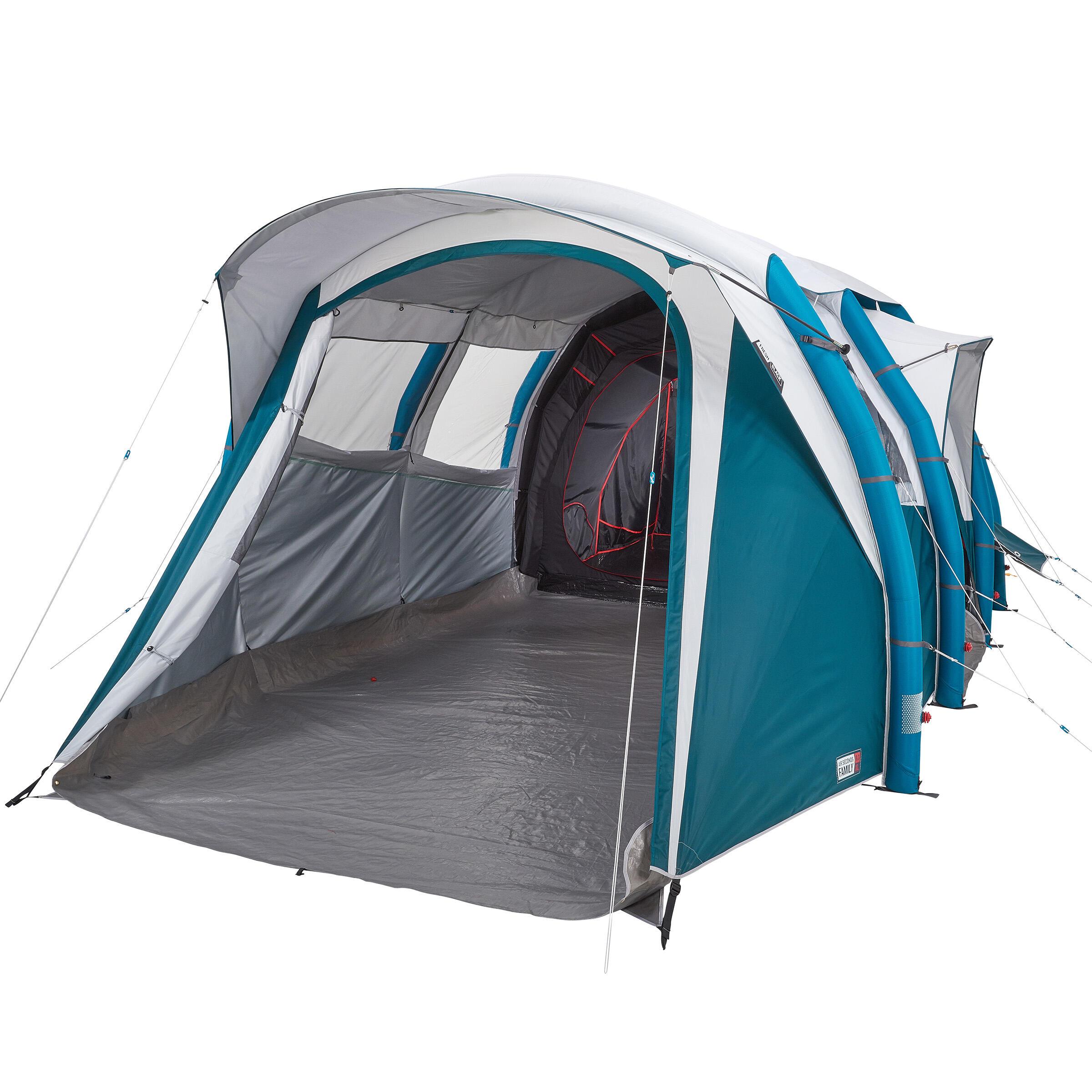 Sport>Persoonstenten>6-persoons tenten Quechua Kampeertent opblaasbaar AIR SECONDS 6.3 FRESH&BLACK   6 personen 3 slaapcabines kopen? Lees eerst dit