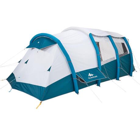tente de camping familiale air seconds family 6 3 xl fresh black i 6 personnes quechua. Black Bedroom Furniture Sets. Home Design Ideas