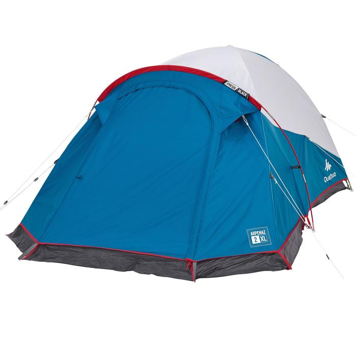 Campingzelt Arpenaz 2 XL Fresh&Black für 2 Personen weiß