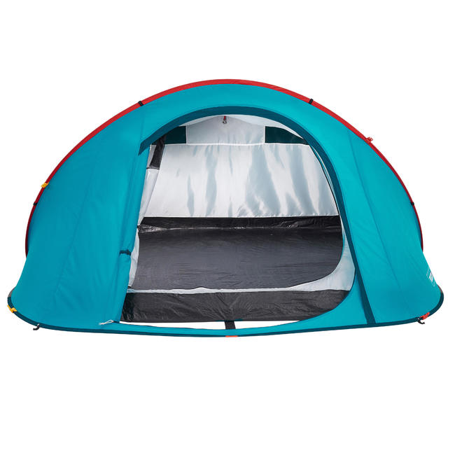 2 SECONDS CAMPING TENT - 3 PEOPLE - BLUE