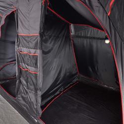 Kampeertent opblaasbaar AIR SECONDS 6.3 FRESH&BLACK | 6 personen 3 slaapcabines