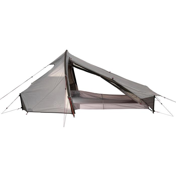 Tente de trek Quickhiker Ultralight 2 personnes gris clair - 1259640