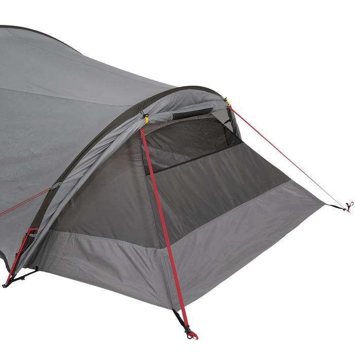 Tente de trek Quickhiker Ultralight 3 personnes gris clair - 1259674