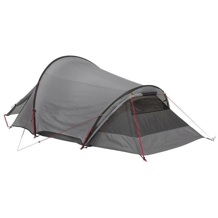 Tente de trek Quickhiker Ultralight 3 personnes gris clair - 1259678