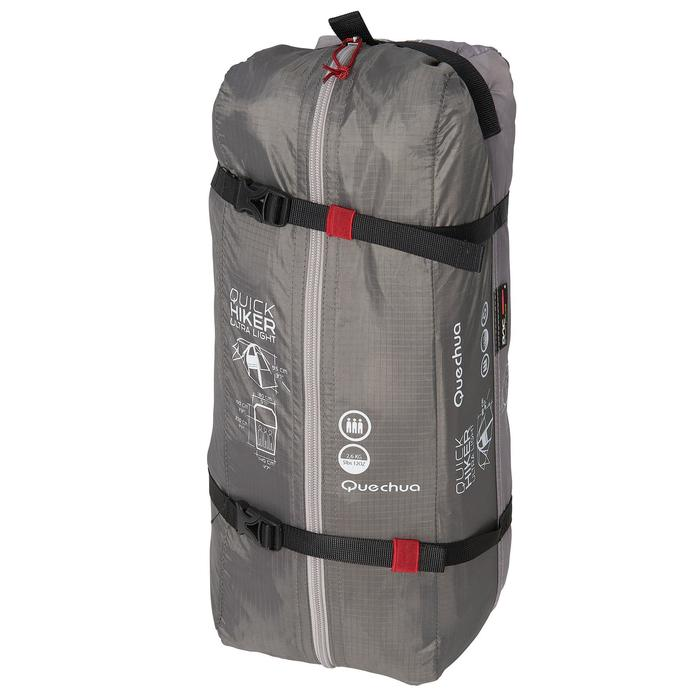 Tente de trek Quickhiker Ultralight 3 personnes gris clair - 1259692