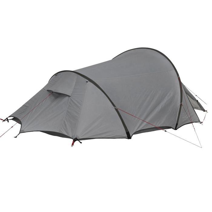 Tente de trek Quickhiker Ultralight 3 personnes gris clair - 1259694