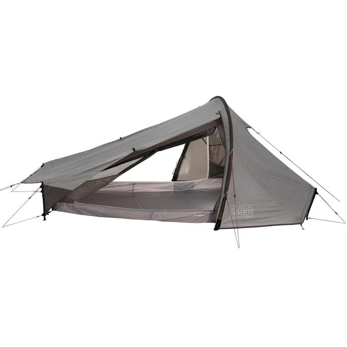Tente de trek Quickhiker Ultralight 2 personnes gris clair - 1259698