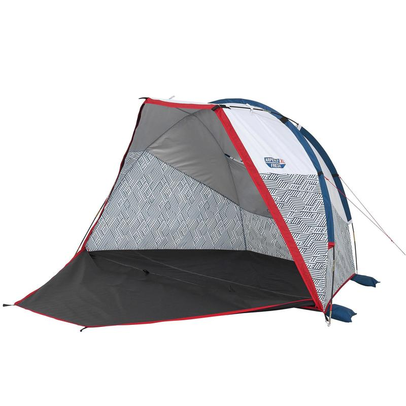 CAMPING SHELTER WITH POLE - ARPENAZ COMPACT XL FRESH - 2 ADULTS