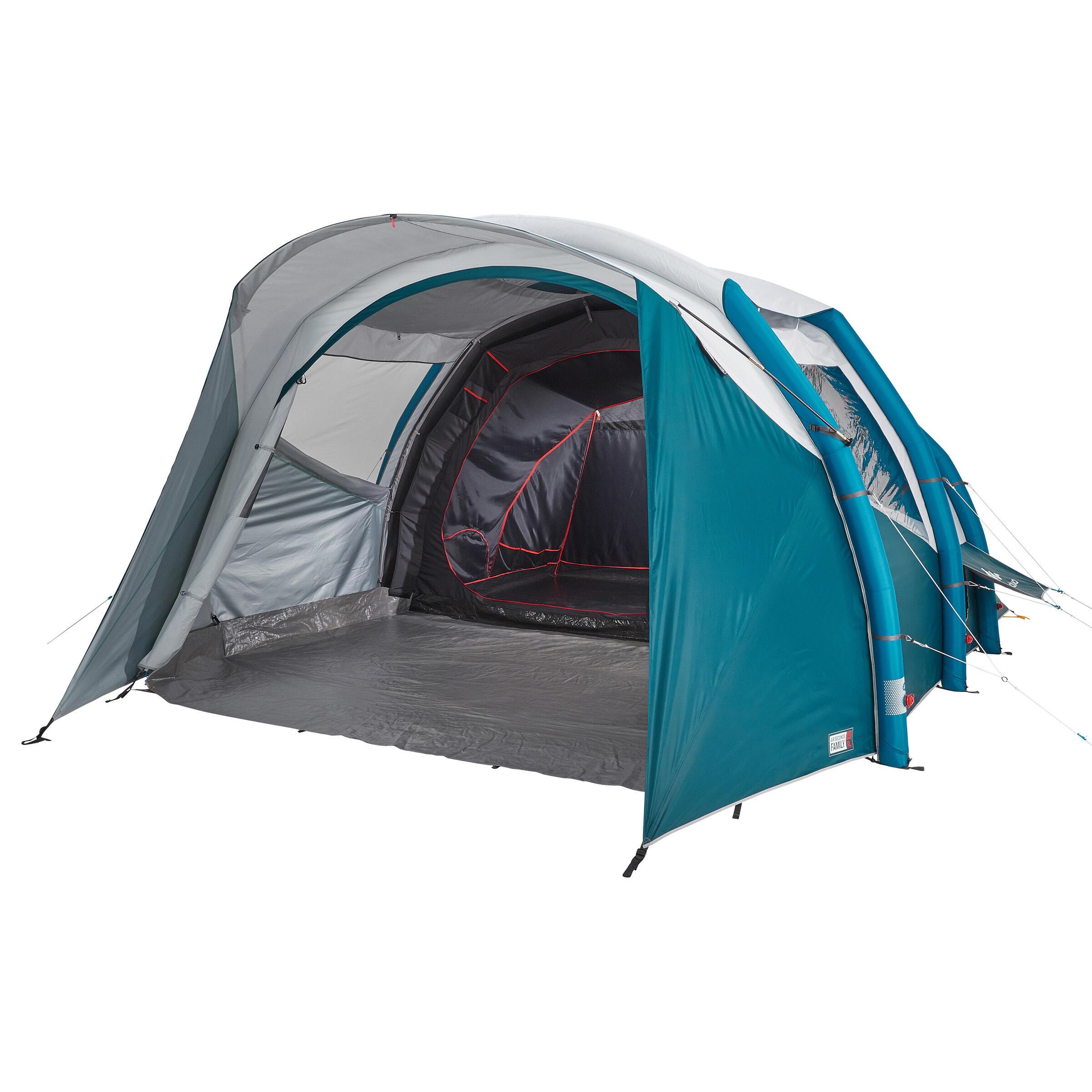 Quechua Opblaasbare tent   5 personen AIR SECONDS 5.2 FRESH&BLACK   2 slaapcabines kopen? Lees eerst dit