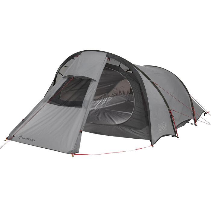 Tente de trek Quickhiker Ultralight 3 personnes gris clair - 1259720