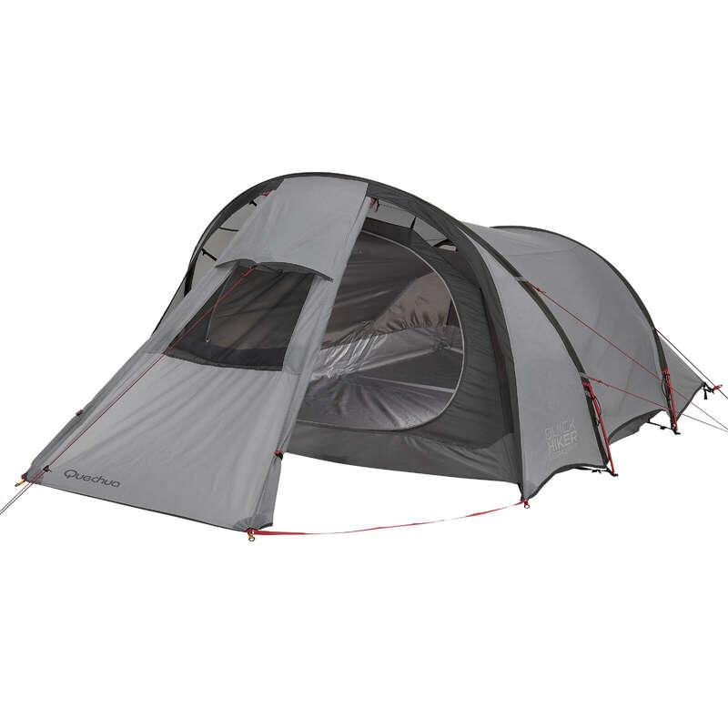 TENTS, TENTS ACCESSORIES TREK - Quickhiker Ultralight 3 Hiking Tent - 3 Man, Grey FORCLAZ