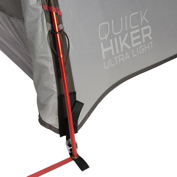 Trekkingzelt Quickhiker Ultralight für 4 Personen hellgrau