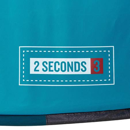 Casa de campaña 2 SECONDS | 3 personas azul