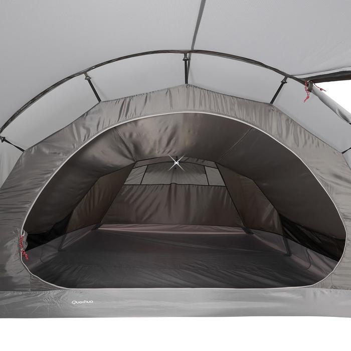 Tente de trek Quickhiker Ultralight 4 personnes gris clair