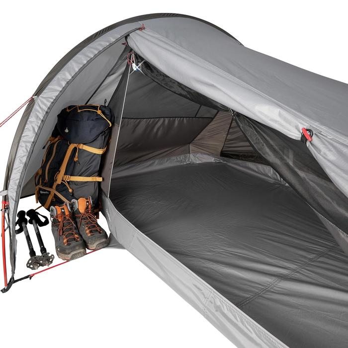 Tienda Campaña y Vivac de Montaña y Trekking Quickhiker Ultralight 2p Gris Claro