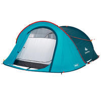 Tente de camping 2 SECONDS | 3 personnes, bleue