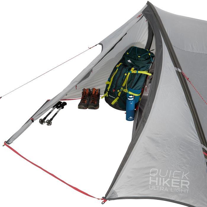 Tente de trek Quickhiker Ultralight 3 personnes gris clair - 1259780