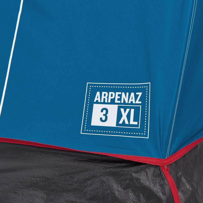 Kampeertent Arpenaz 3 XL Fresh&Black | 3 personen blauw en wit