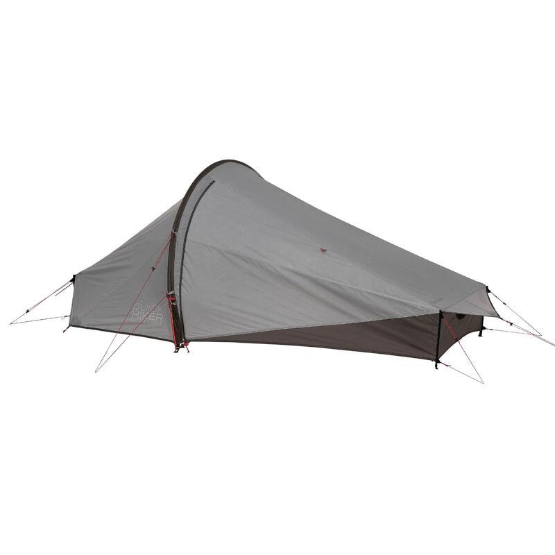 Trekking 2-Person Tent Quickhiker Ultralight - Light grey