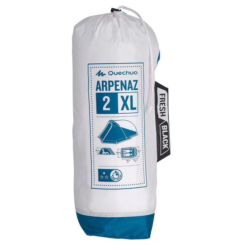 ARPENAZ 2 XL FRESH&BLACK _PIPE_ 2 person camping tent blue and white