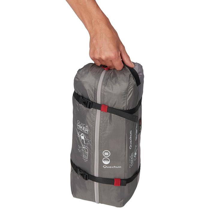 Tente de trek Quickhiker Ultralight 3 personnes gris clair - 1259801