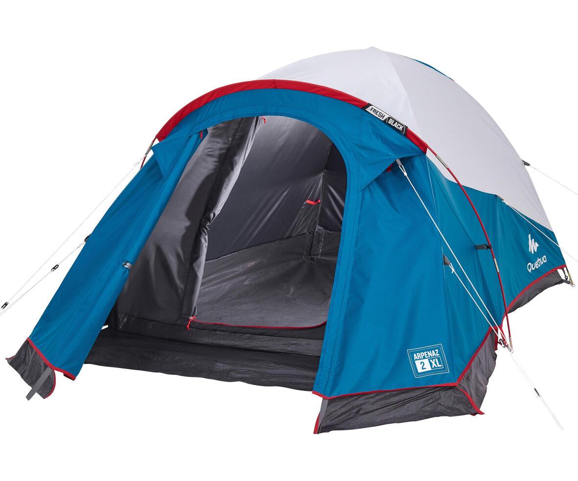 repair-pole-tent-arpenaz-2-person-XL-fresh-and-black-quechua-broken