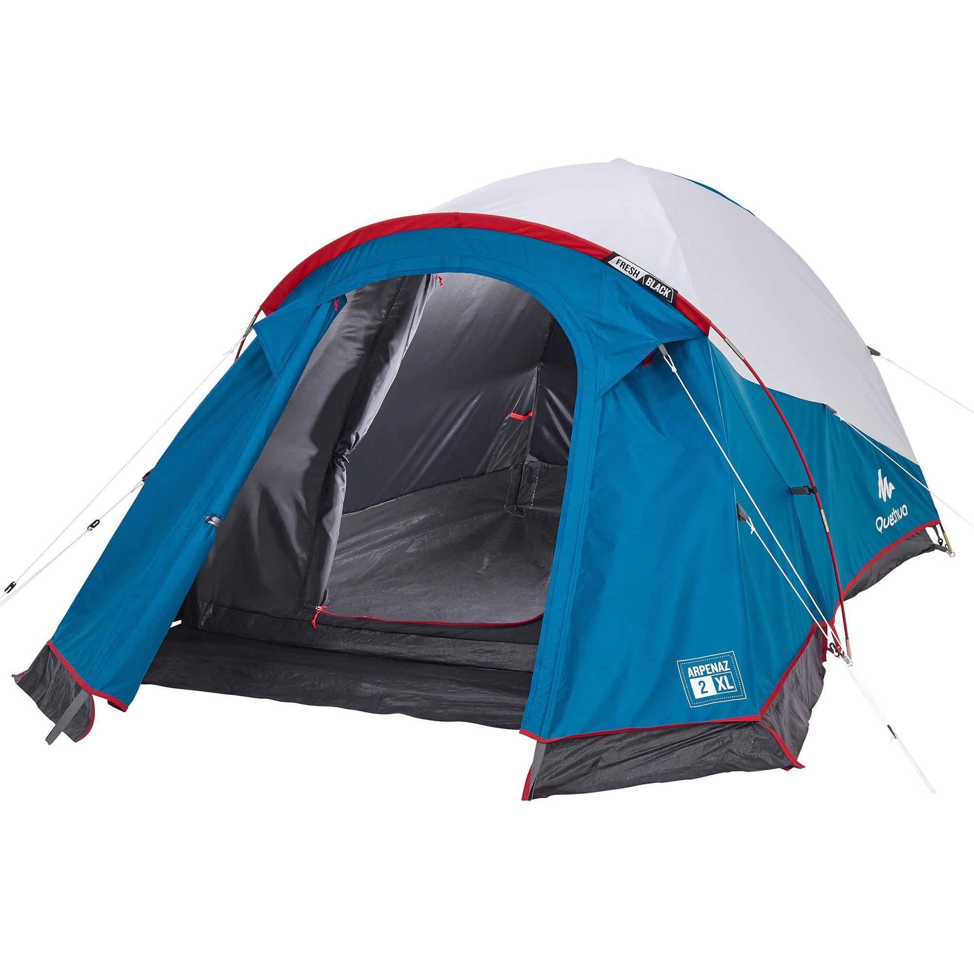 Quechua Tent | 2 Persoons | Blauw/Wit | Arpenaz XL Fresh & Black