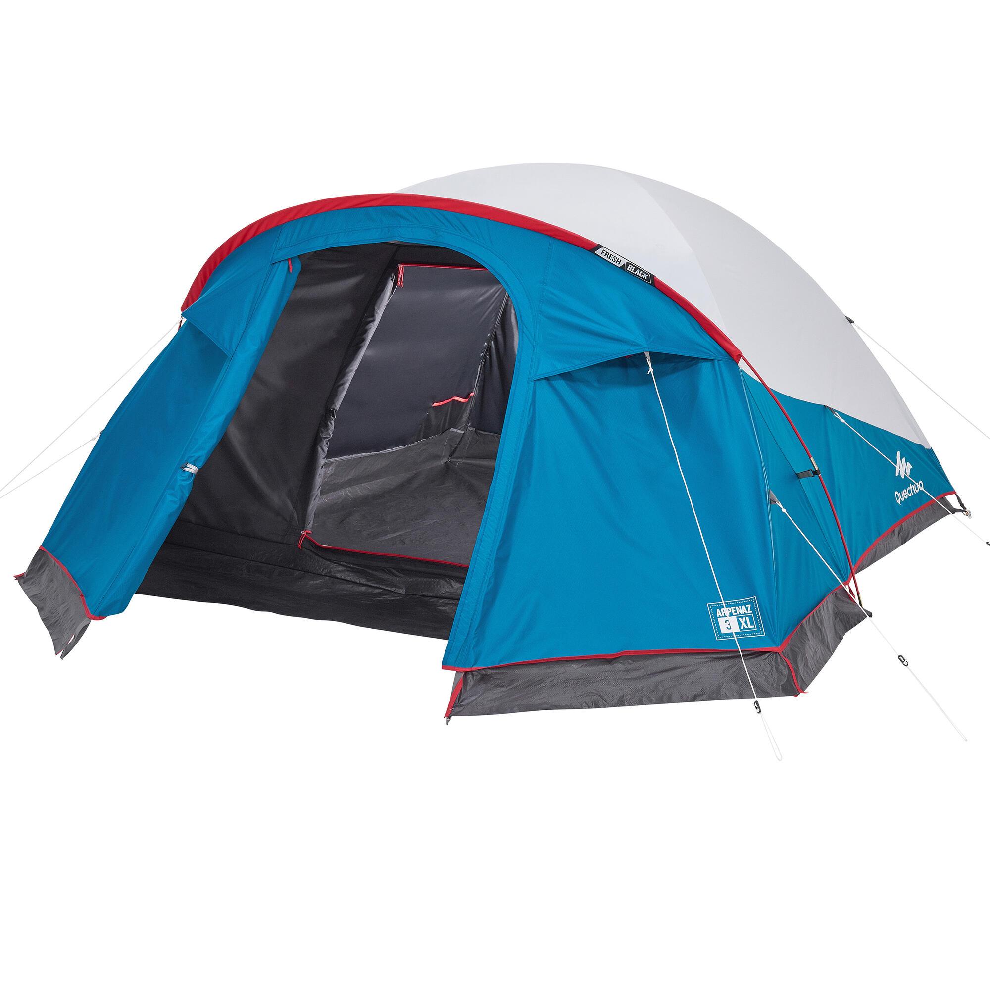 tenda campeggio arpenaz 3 xl fresh black 3 posti quechua. Black Bedroom Furniture Sets. Home Design Ideas