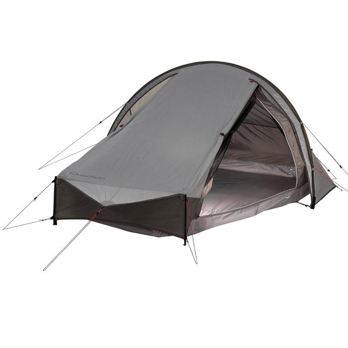 Tente de trek Quickhiker Ultralight 2 personnes gris clair - 1259812