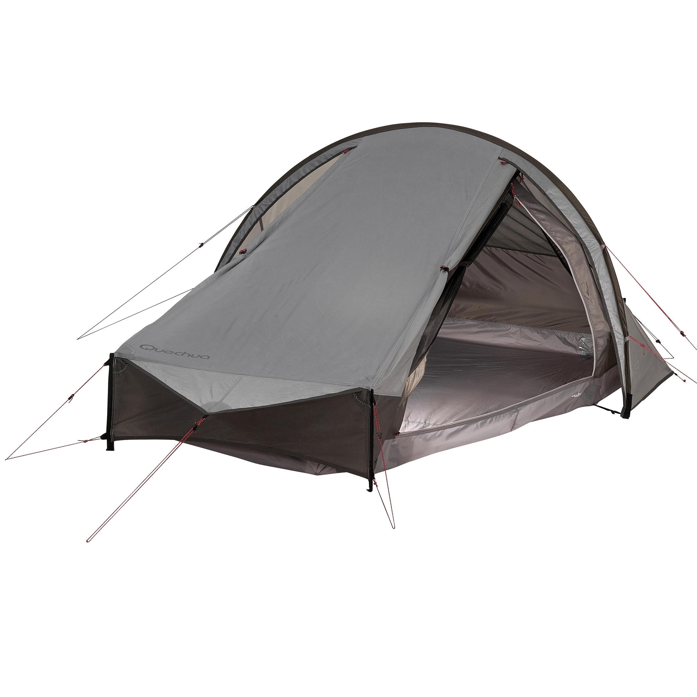 Tente de trek Quickhiker Ultralight 2 personnes gris clair