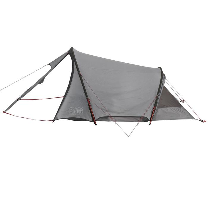 Tente de trek Quickhiker Ultralight 3 personnes gris clair - 1259821