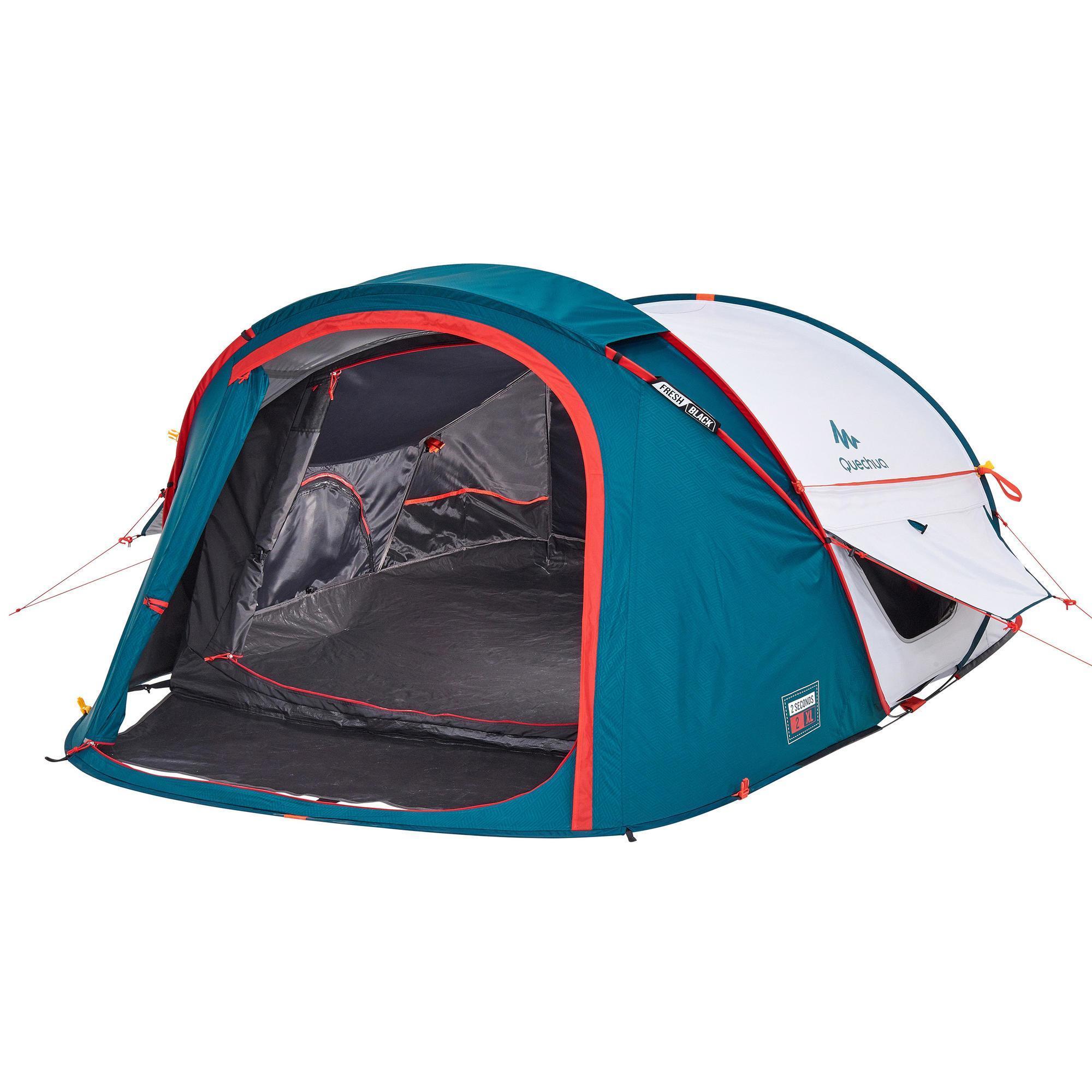 Quechua Pop up tent 2 Seconds 2 XL Fresh & Black 2 personen wit