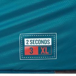 Kampeertent 2 Seconds 3 XL Fresh&Black | 3 personen blauw en wit