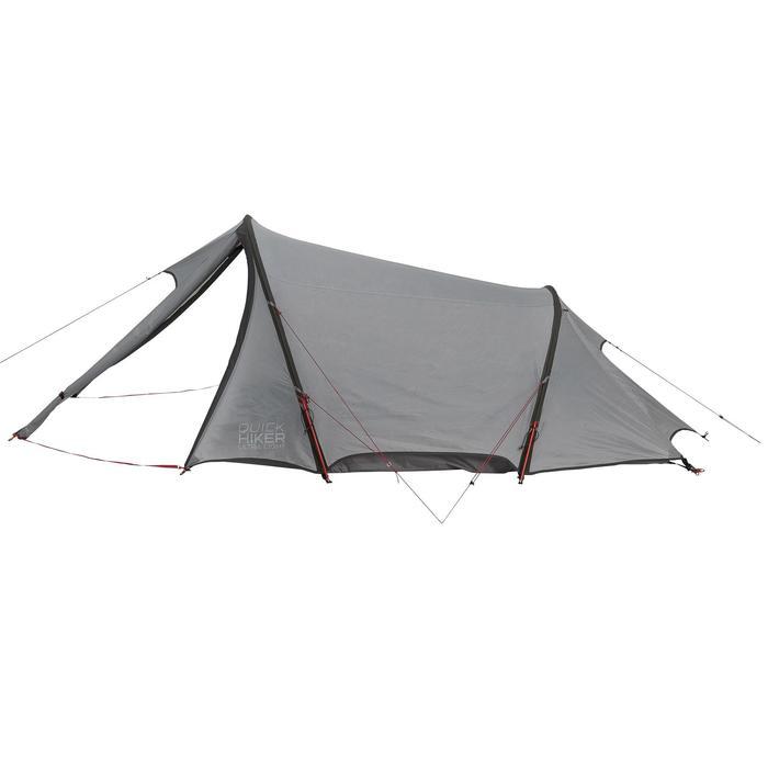 Tente de trek Quickhiker Ultralight 3 personnes gris clair - 1259829