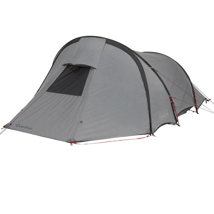 Tente de trek Quickhiker Ultralight 3 personnes gris clair - 1259838